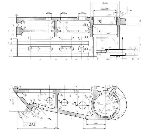 Щека дробилки смд 110 - детали по чертежам